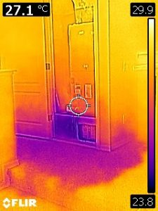 FLIR Infrared Thermal Imaging of Clogged Drain Line