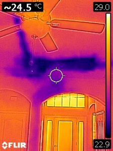 FLIR Infrared Thermal Imaging of Condensate Water Damage to Ceiling
