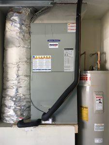 AC Fan Coil Installed on Garage Platform