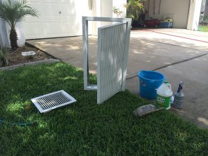 AC Vent and Grille Cleaning Process