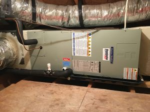 Completed Air Handler Install in Attic