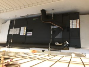 ForeFront Air Handler Hanging From Garage Ceiling