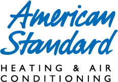 American Standard brand of air conditioning equipment dealer logo